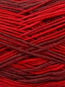 Fiber Content 100% AntiBacterial Micro Dralon, Red Shades, Brand Ice Yarns, Burgundy, Yarn Thickness 2 Fine  Sport, Baby, fnt2-42655