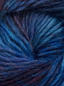 Fiber Content 70% Dralon, 30% Wool, Purple, Maroon, Brand ICE, Blue Shades, Yarn Thickness 4 Medium  Worsted, Afghan, Aran, fnt2-42697