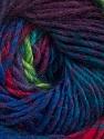 Fiber Content 70% Dralon, 30% Wool, Turquoise, Maroon, Brand Ice Yarns, Green, Fuchsia, Blue, Yarn Thickness 4 Medium  Worsted, Afghan, Aran, fnt2-42709