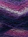 Fiber Content 90% Acrylic, 10% Polyamide, Purple Shades, Pink, Navy, Brand Ice Yarns, Yarn Thickness 4 Medium  Worsted, Afghan, Aran, fnt2-42757