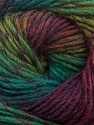 Fiber Content 70% Dralon, 30% Wool, Maroon, Brand Ice Yarns, Green Shades, Yarn Thickness 4 Medium  Worsted, Afghan, Aran, fnt2-42766