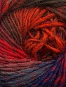 Fiber Content 70% Dralon, 30% Wool, Red, Purple, Orange, Brand Ice Yarns, Brown, Blue, Yarn Thickness 4 Medium  Worsted, Afghan, Aran, fnt2-42770