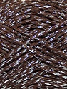 Fiber Content 80% Mako Cotton, 20% Metallic Lurex, Silver, Brand Ice Yarns, Brown, Yarn Thickness 3 Light  DK, Light, Worsted, fnt2-44196