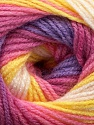 Fiber Content 100% Acrylic, Yellow, White, Pink, Orchid, Lilac, Brand Ice Yarns, fnt2-44715