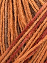 Please note that this is a self-striping yarn. Please see the package photo for the color change Kuitupitoisuus 100% Akryyli, Brand Ice Yarns, Cream, Copper, Brown, fnt2-44743