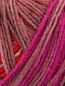 Please note that this is a self-striping yarn. Please see the package photo for the color change Kuitupitoisuus 100% Akryyli, Salmon, Maroon, Brand Ice Yarns, Fuchsia, fnt2-44747