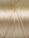 Fiber Content 100% Polyester, Brand Ice Yarns, Cream, Yarn Thickness 0 Lace  Fingering Crochet Thread, fnt2-44828