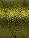 Fiber Content 100% Polyester, Olive Green, Brand ICE, Yarn Thickness 0 Lace  Fingering Crochet Thread, fnt2-44831