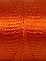 Fiber Content 100% Polyester, Orange, Brand Ice Yarns, Yarn Thickness 0 Lace  Fingering Crochet Thread, fnt2-44836