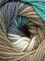 Fiber indhold 100% Præmie acryl, White, Turquoise, Brand Ice Yarns, Green, Camel, fnt2-44920