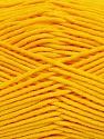 Fiber Content 55% Cotton, 45% Acrylic, Yellow, Brand ICE, Yarn Thickness 4 Medium  Worsted, Afghan, Aran, fnt2-45148