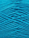 Fiber Content 55% Cotton, 45% Acrylic, Turquoise, Brand Ice Yarns, Yarn Thickness 4 Medium  Worsted, Afghan, Aran, fnt2-45154