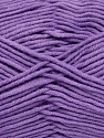 Fiberinnhold 55% Bomull, 45% Akryl, Lilac, Brand Ice Yarns, Yarn Thickness 4 Medium  Worsted, Afghan, Aran, fnt2-45158