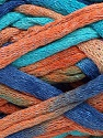 Fiber indhold 70% Bomuld, 30% Polyamid, Turquoise, Salmon, Brand Ice Yarns, Blue, Yarn Thickness 6 SuperBulky  Bulky, Roving, fnt2-45184
