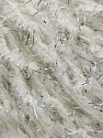 Vezelgehalte 70% Polyamide, 18% Metallic lurex, 12% Kid mohair, White, Silver, Brand Ice Yarns, fnt2-45793