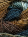 Fiber Content 40% Wool, 30% Acrylic, 30% Mohair, Teal, Light Blue, Brand ICE, Brown Shades, Yarn Thickness 3 Light  DK, Light, Worsted, fnt2-45799
