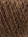 Composição 50% Acrílico, 22% Poliamida, 15% Algodão, 13% Lurex metalizado, Brand Ice Yarns, Gold, Camel, fnt2-45970