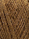 Fiberinnehåll 50% Akryl, 22% Polyamid, 15% Bomull, 13% metalliskt Lurex, Light Brown, Brand Ice Yarns, Gold, Yarn Thickness 1 SuperFine  Sock, Fingering, Baby, fnt2-45971