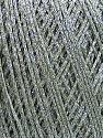 Fiber indhold 80% Bomuld, 20% Metallisk Lurex, Light Grey, Brand Ice Yarns, fnt2-46146