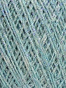 Fiber Content 80% Cotton, 20% Metallic Lurex, Light Turquoise, Brand Ice Yarns, fnt2-46147