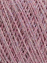 Fiber Content 80% Cotton, 20% Metallic Lurex, Light Pink, Brand Ice Yarns, fnt2-46148