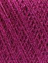 Fiber Content 100% Metallic Lurex, Brand Ice Yarns, Fuchsia, fnt2-46202