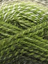 Fiber Content 55% Acrylic, 25% Mohair, 20% Alpaca, White, Brand Ice Yarns, Green Shades, Yarn Thickness 4 Medium  Worsted, Afghan, Aran, fnt2-46206