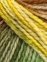 Fiber Content 75% Acrylic, 25% Wool, Yellow, White, Brand Ice Yarns, Green, Brown, Yarn Thickness 5 Bulky  Chunky, Craft, Rug, fnt2-46230
