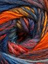 Fiber Content 60% Wool, 40% Acrylic, Yellow, Red, Orange, Light Blue, Brand Ice Yarns, Brown, Blue, Yarn Thickness 4 Medium  Worsted, Afghan, Aran, fnt2-46289