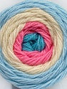 Fiber indhold 100% Akryl, Turquoise, Pink, Brand Ice Yarns, Cream, Baby Blue, fnt2-46328