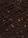 Fiber Content 50% Polyester, 30% Metallic Lurex, 20% Paillette, Brand Ice Yarns, Dark Brown, fnt2-46381