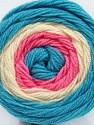 Fiber indhold 100% Akryl, White, Turquoise, Pink, Brand Ice Yarns, fnt2-46408