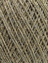 Fiber Content 90% Cotton, 10% Metallic Lurex, Brand Ice Yarns, Gold, Beige, fnt2-46432