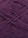 Please note that the yarn weight and the ball length may vary from one color to another for this yarn. Fiberinnehåll 100% Bomull, Purple, Brand Ice Yarns, fnt2-46490