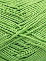 Please note that the yarn weight and the ball length may vary from one color to another for this yarn. Fiber Content 100% Cotton, Light Green, Brand Ice Yarns, Yarn Thickness 3 Light  DK, Light, Worsted, fnt2-46496
