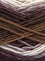This is a self-striping yarn. Please see package photo for the color combination. Fiber Content 100% Acrylic, White, Maroon, Brand Ice Yarns, Brown Shades, Yarn Thickness 3 Light  DK, Light, Worsted, fnt2-46811