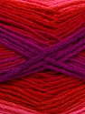 This is a self-striping yarn. Please see package photo for the color combination. Fiber Content 100% Acrylic, Red, Purple, Pink, Maroon, Brand Ice Yarns, Yarn Thickness 3 Light  DK, Light, Worsted, fnt2-46817