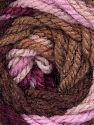 Fiber Content 100% Acrylic, Pink, Maroon, Brand Ice Yarns, Camel, Brown Shades, Yarn Thickness 4 Medium  Worsted, Afghan, Aran, fnt2-46964