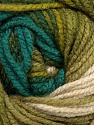 Fiber Content 100% Acrylic, Turquoise, Brand Ice Yarns, Green Shades, Beige, Yarn Thickness 4 Medium  Worsted, Afghan, Aran, fnt2-46966