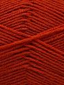 Fiber Content 55% Virgin Wool, 5% Cashmere, 40% Acrylic, Brand Ice Yarns, Dark Orange, Yarn Thickness 2 Fine  Sport, Baby, fnt2-47157