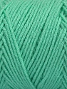 Items made with this yarn are machine washable & dryable. Fiber Content 100% Dralon Acrylic, Mint Green, Brand Ice Yarns, Yarn Thickness 4 Medium  Worsted, Afghan, Aran, fnt2-47397