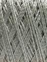 Fiber Content 60% Polyamide, 40% Viscose, Silver, Brand Ice Yarns, Yarn Thickness 2 Fine  Sport, Baby, fnt2-48395