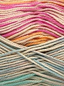 Fiber Content 100% Mercerised Cotton, Pink, Orange, Mint Green, Brand ICE, Blue, Beige, Yarn Thickness 2 Fine  Sport, Baby, fnt2-48628