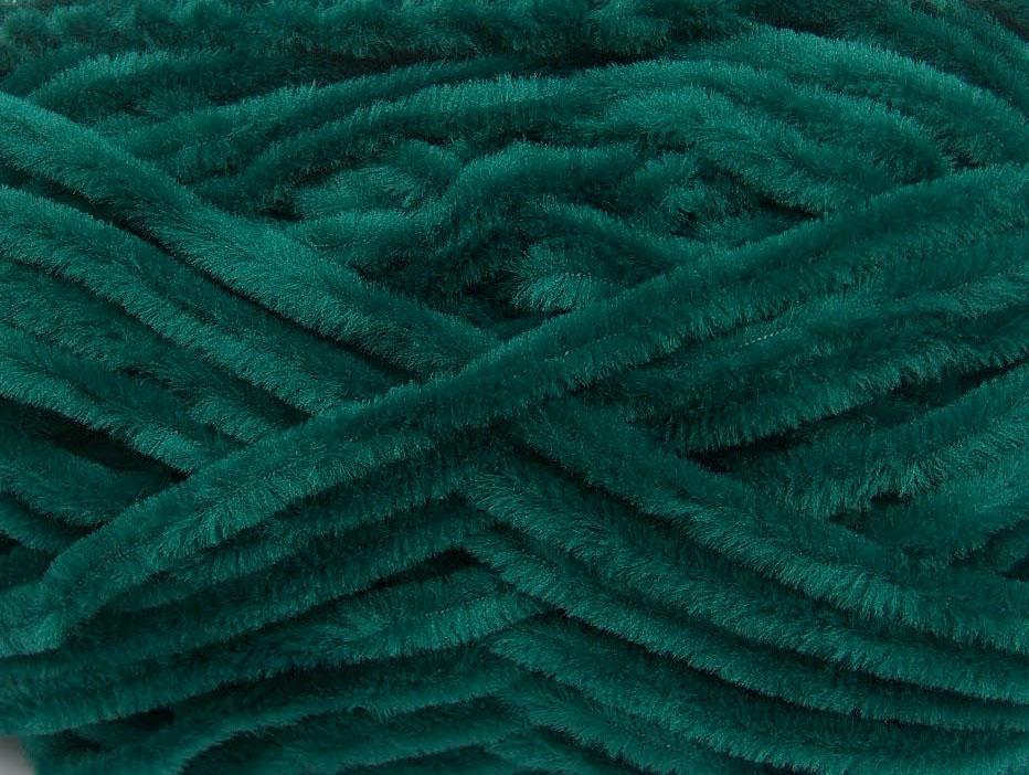 Velvet Chenille Dark Green, Chenille Yarns | Ice Yarns