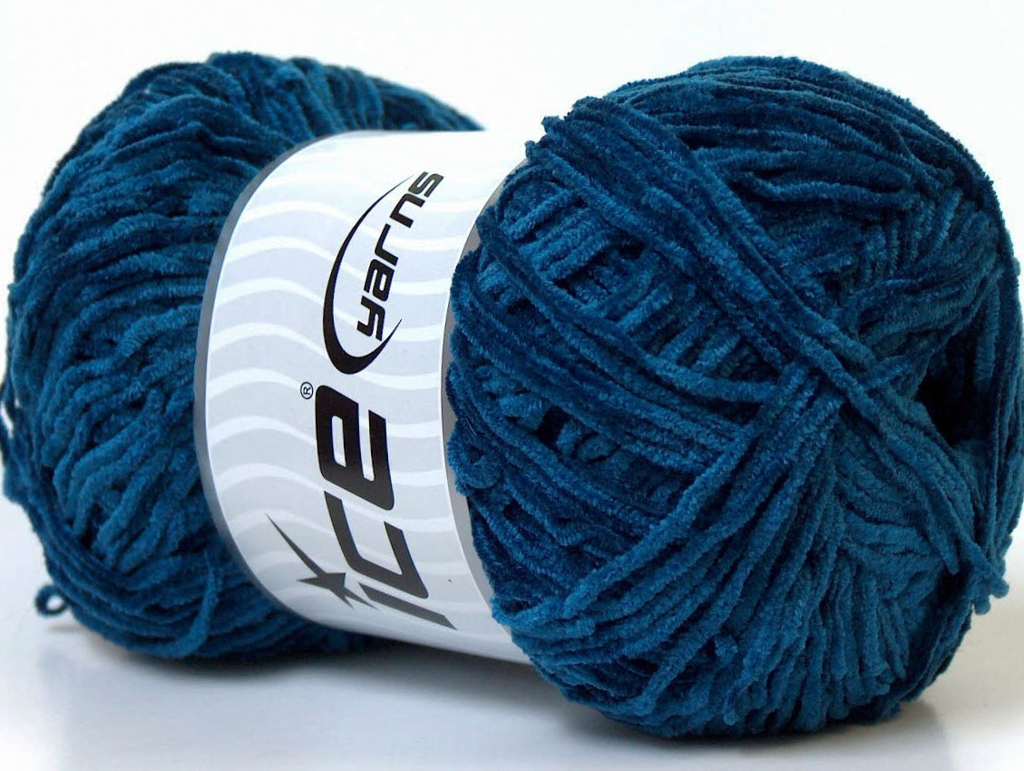 Petite Chenille Navy, Chenille Yarns | Ice Yarns Online Yarn