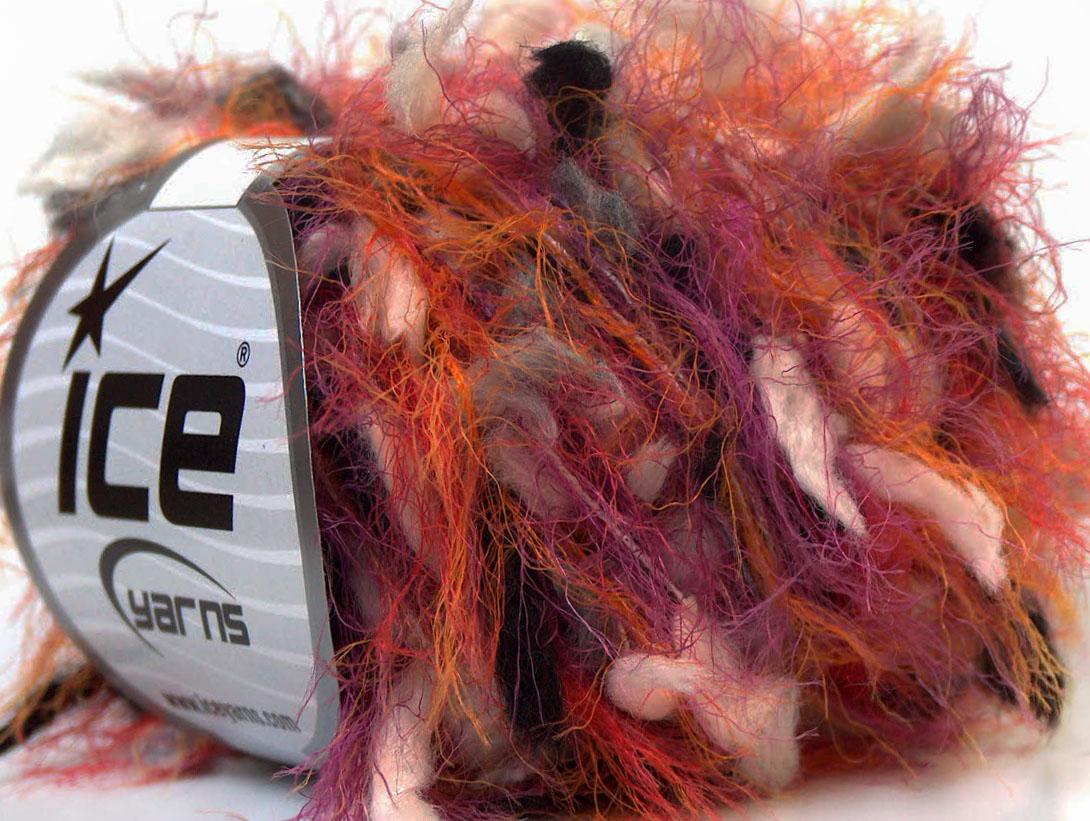 Sale Eyelash Blend White Pink Orange Grey Black, Closeout Yarns