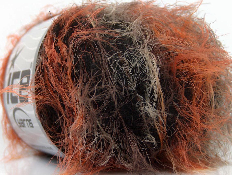 Sale Eyelash Blend Orange Brown Black, Closeout Yarns | Ice Yarns