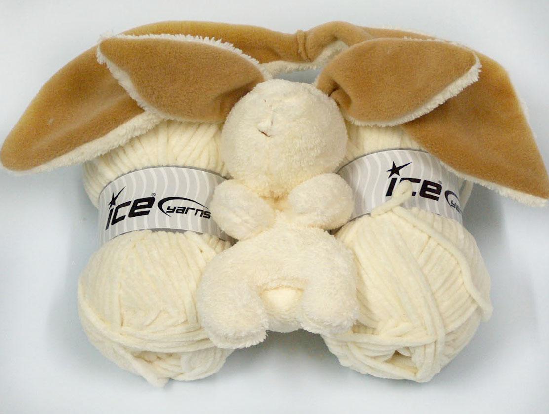 Animal Hatscarf Cream With Bunny Baby Yarns Yarn Paradise